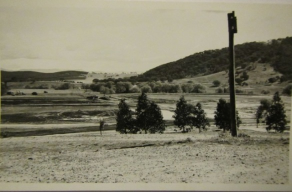 The old Canberra race course before it was flooded.