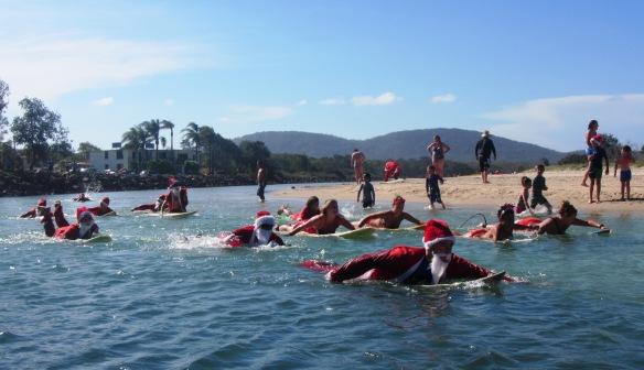 Surfing Santa's everywhere