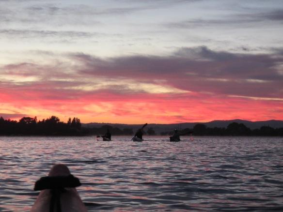 Pre-dawn paddle