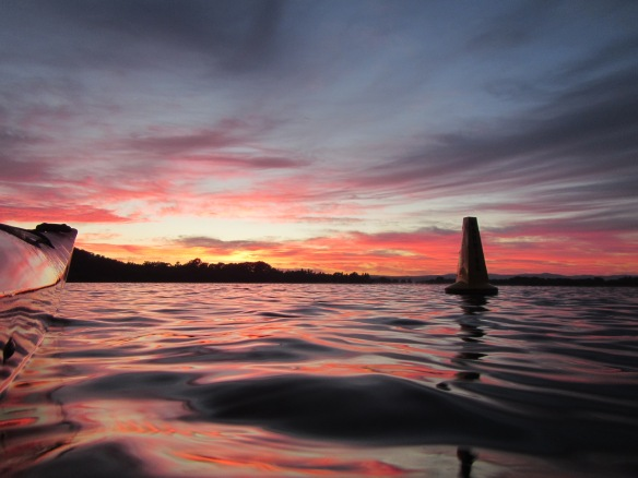 The warning buoy to the right was alerting me of the mind blowing sunrise that was about to take place this morning.