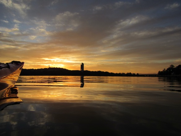 Another golden morning on Lake Burley Griffin, Canberra.