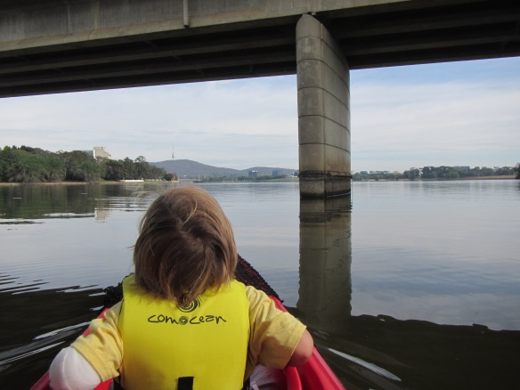 Paddling under a huge bridge always has the wow factor