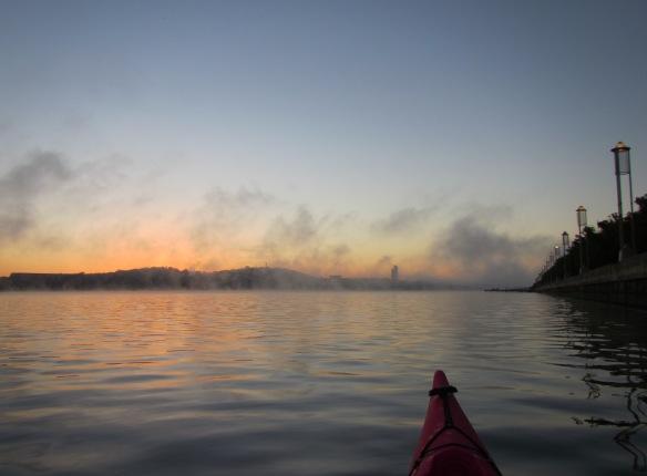 Greeting a misty dawn