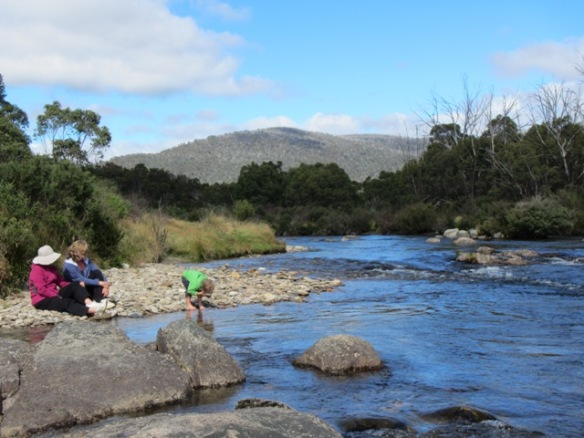 We decide to stroll  down to the Snowy River and take it all in.