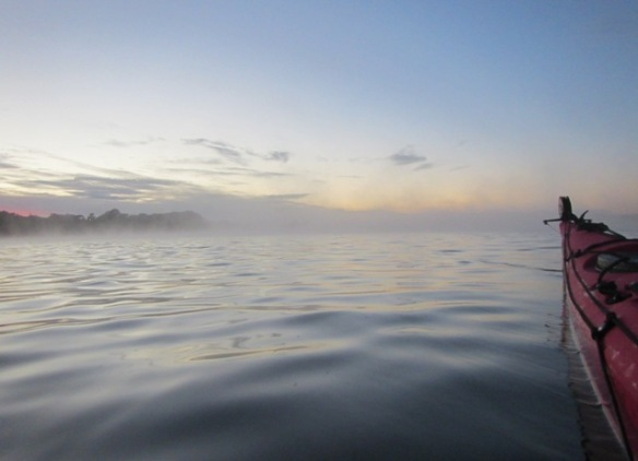 The light fog was just starting to chase me into the main basin.