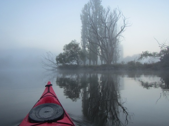 But usually mist is associated with glassy water.