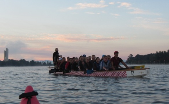 The ever smiling Dragon boaters