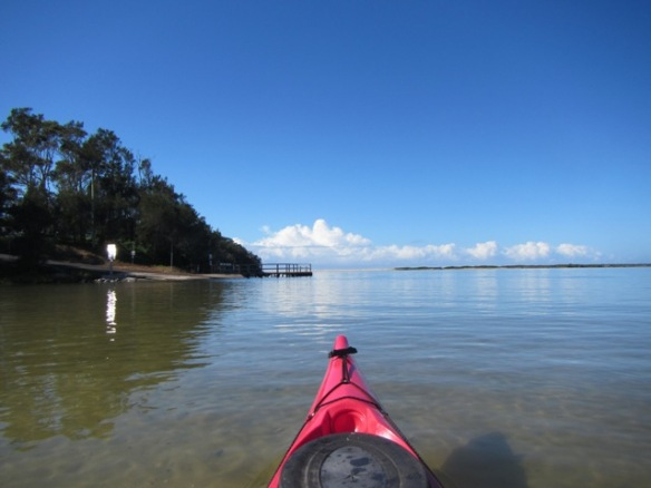 3 hours of clear skies and smooth paddling.