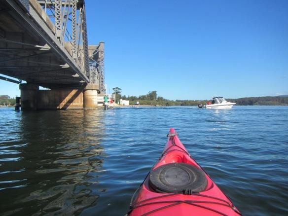 Floating under the Narooma Bridge.