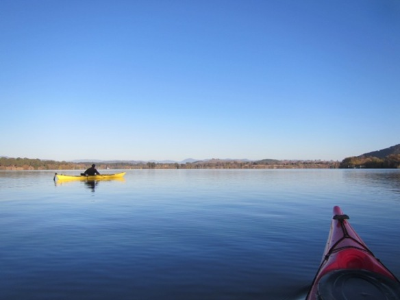 Crystal blue skies for the remainder of the morning. This is a typical autumn day in Canberra.