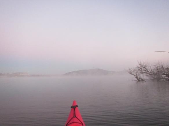 6.31am: A misty main basin