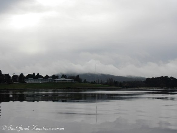 Regatta Point and Mt Ainslie looking very mystical