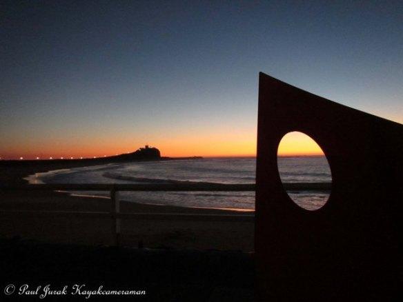 6.16am: New day beginning at Nobbys Beach.