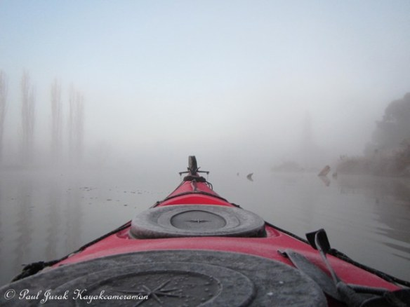 You know its cold when the water turns to ice on you kayak!