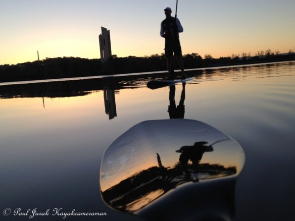 Tri SUP reflection