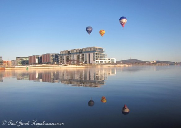 The balloons are always a magnificent site hovering over Canberra.