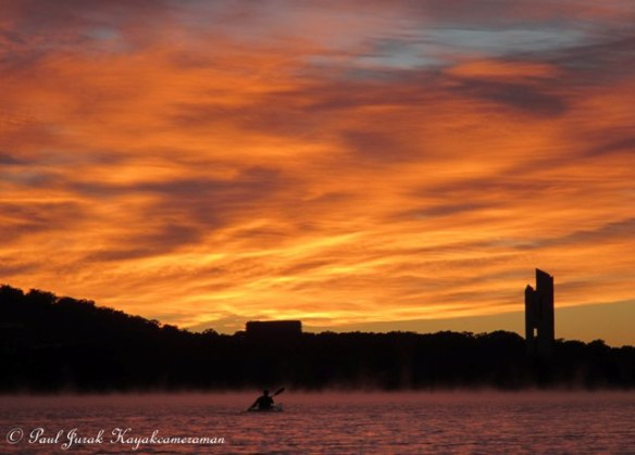I just love paddling into a brilliant sunrise, no better way to start the day!