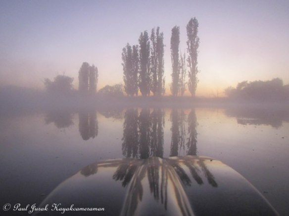 5.29am and I'm floating though the mist on the Molonglo River.