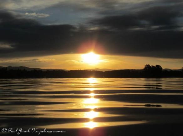 Laser sunset