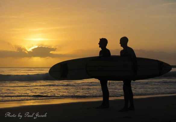 Sunrise surfers