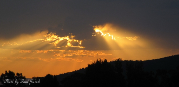 Golden beams were shinning all over Canberra