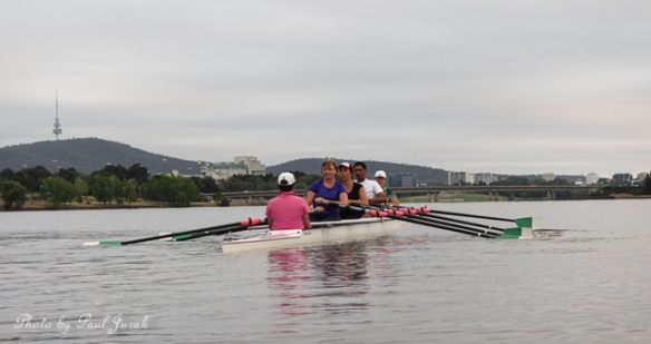 The sculls are  get ready to blast off.