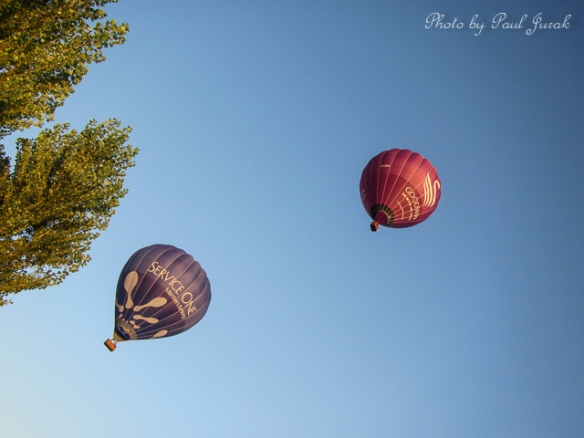 There was total silence as the balloons floated overhead into a cloudless  Canberra skyline.