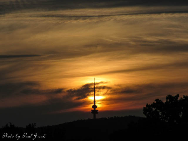 Caramelised Sunset in Canberra