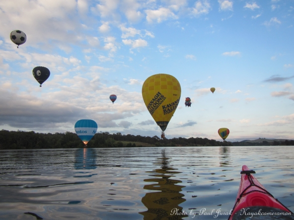 The 'Red Chilli' (my kayak) always loves a good balloon chase.