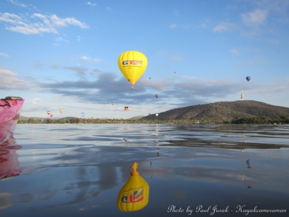 The balloons looked fantastic they are such a huge part of the Canberra Landscape.