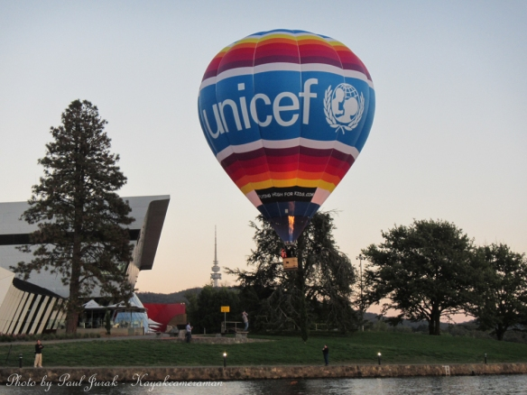 The Unicef balloon decided to have a closer view of the National Museum.