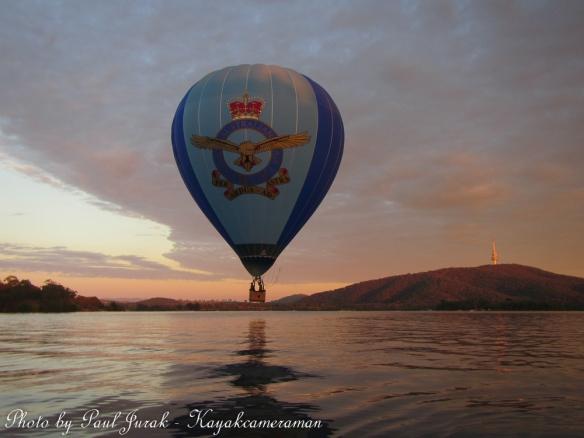 The RAAF balloon was leading the way.
