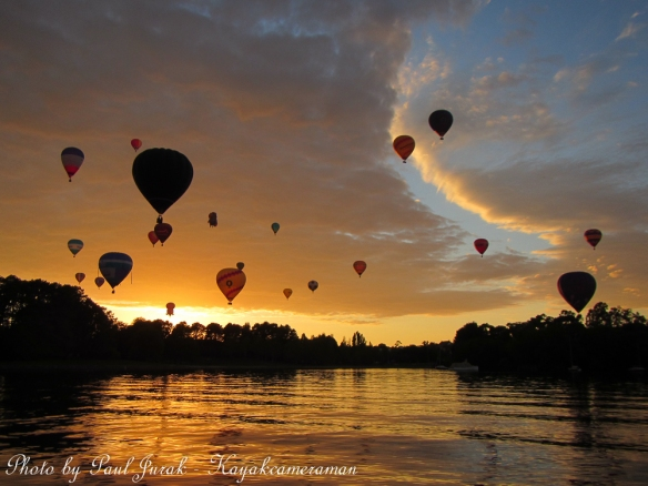 The skies are alive with balloons