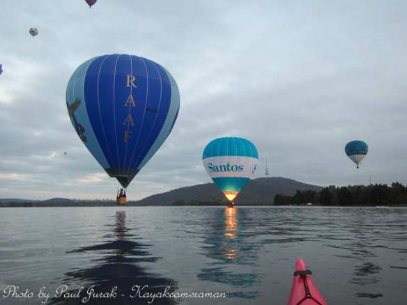 Both the RAAF and the Santos balloon have spent plenty of time on the waters surface as well.