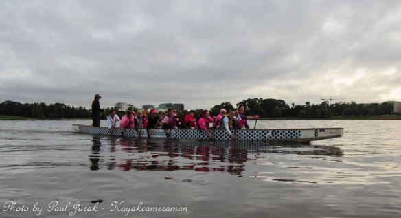 The timing was perfect as the ladies added a huge splash of pink.