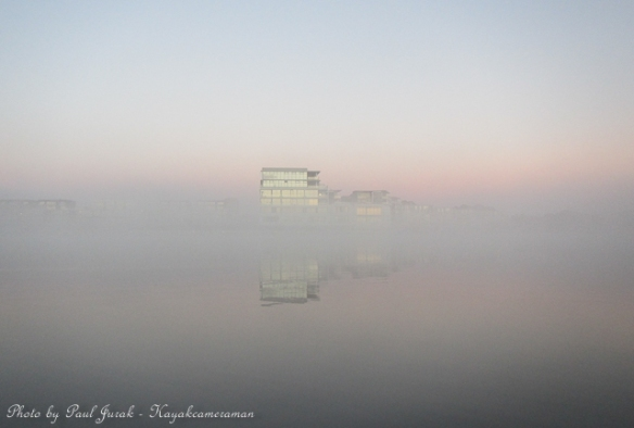 The Kingston Foreshore was looking great covered in fog.