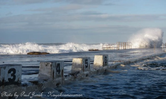 The sea was huge this morning