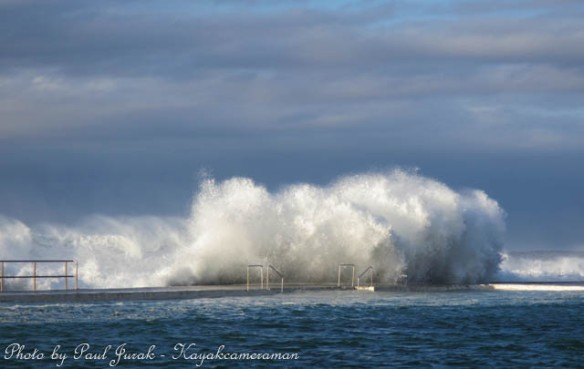 The sea was angry today